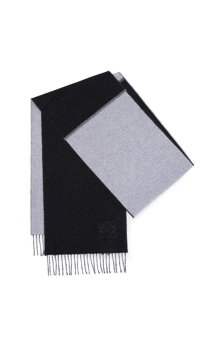 LOEWE 30 X 180 Cm Window Scarf In Wool And Cashmere Black/White pdp_rd