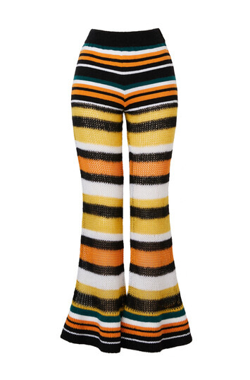 LOEWE Paula Stripe Trousers White/Green/Orange front