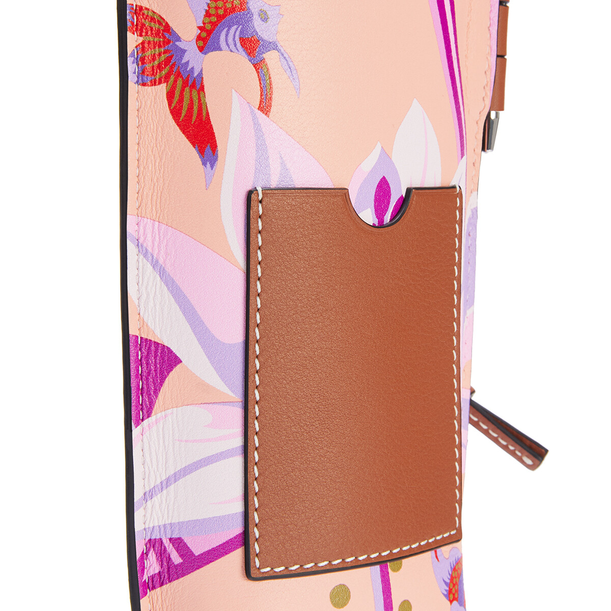 LOEWE Gate Pocket In Waterlily Classic Calfskin Salmon/Pink front