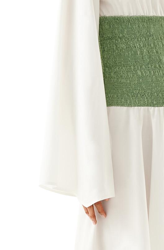 LOEWE Smock Detail Dress Verde Pistacho front