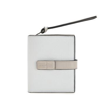 LOEWE Compact Zip Wallet Kaolin/Ghost front