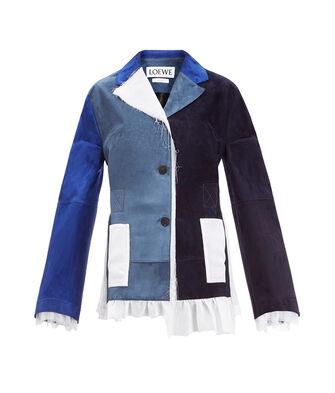 LOEWE Asymmetric Jacket Azul/Blanco front