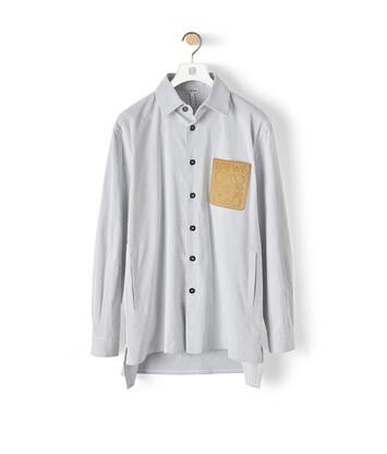 LOEWE Stripe Shirt Blanco/Azul front