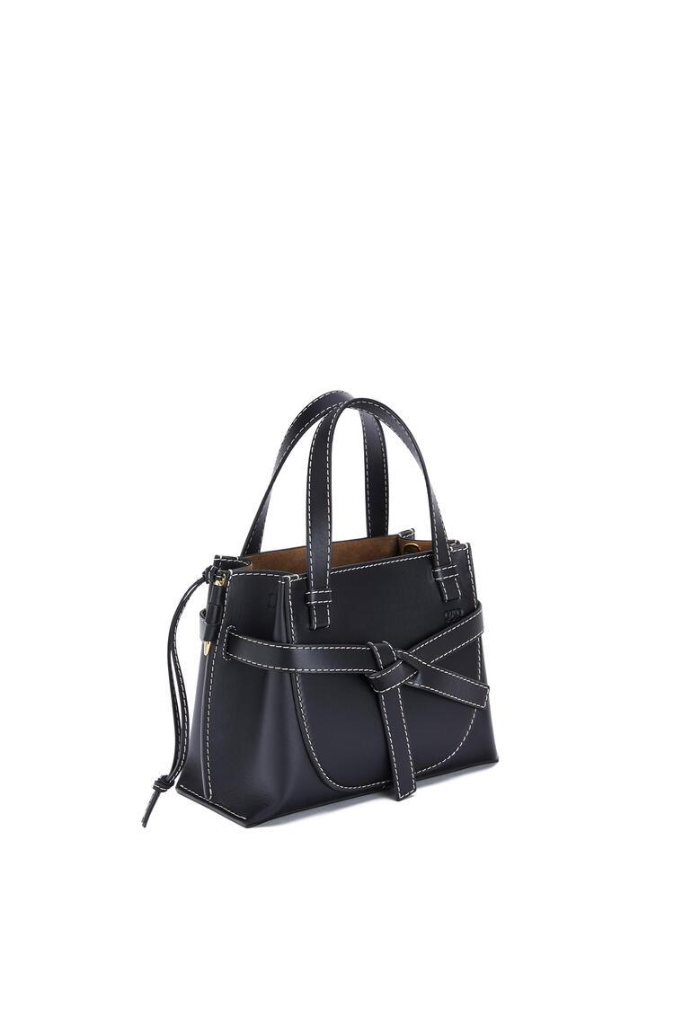 LOEWE Mini Gate Top Handle bag in natural calfskin 黑色 pdp_rd