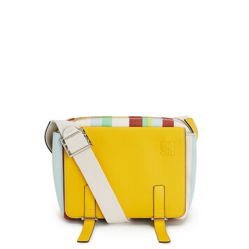 LOEWE Milit Messenger Stripes Xs Bag Yellow/Multicolour front