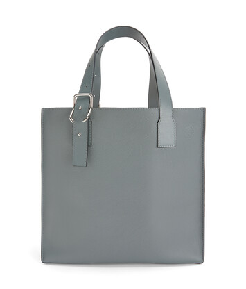 LOEWE Bolso Buckle Tote Gris Metalico front