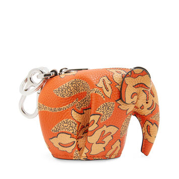 LOEWE Paula Elephant Charm Orange/Tan front