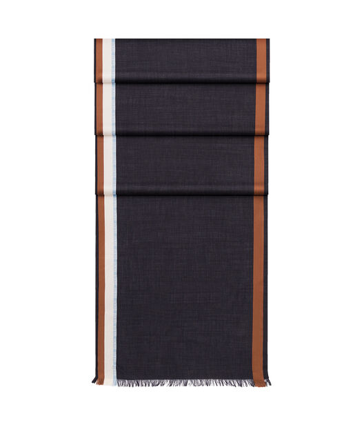 LOEWE 70X200 スカーフ ロエベ ボーダー Blue/Brown all