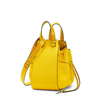 LOEWE Hammock Drawstring Small Bag Yellow front