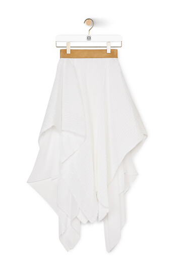 LOEWE Pleated Skirt White front