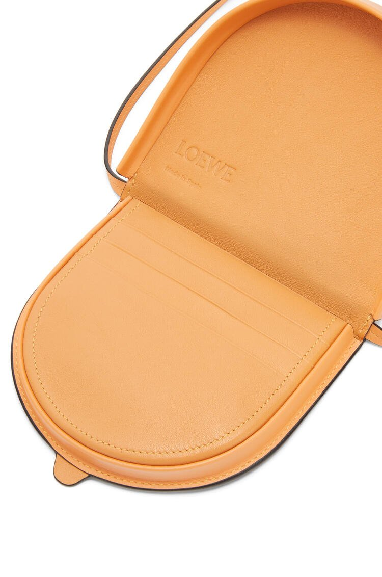 LOEWE Small Heel Pouch In Soft Calfskin Soft Apricot pdp_rd