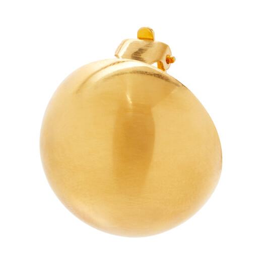 LOEWE Globe Earrings 金色 front