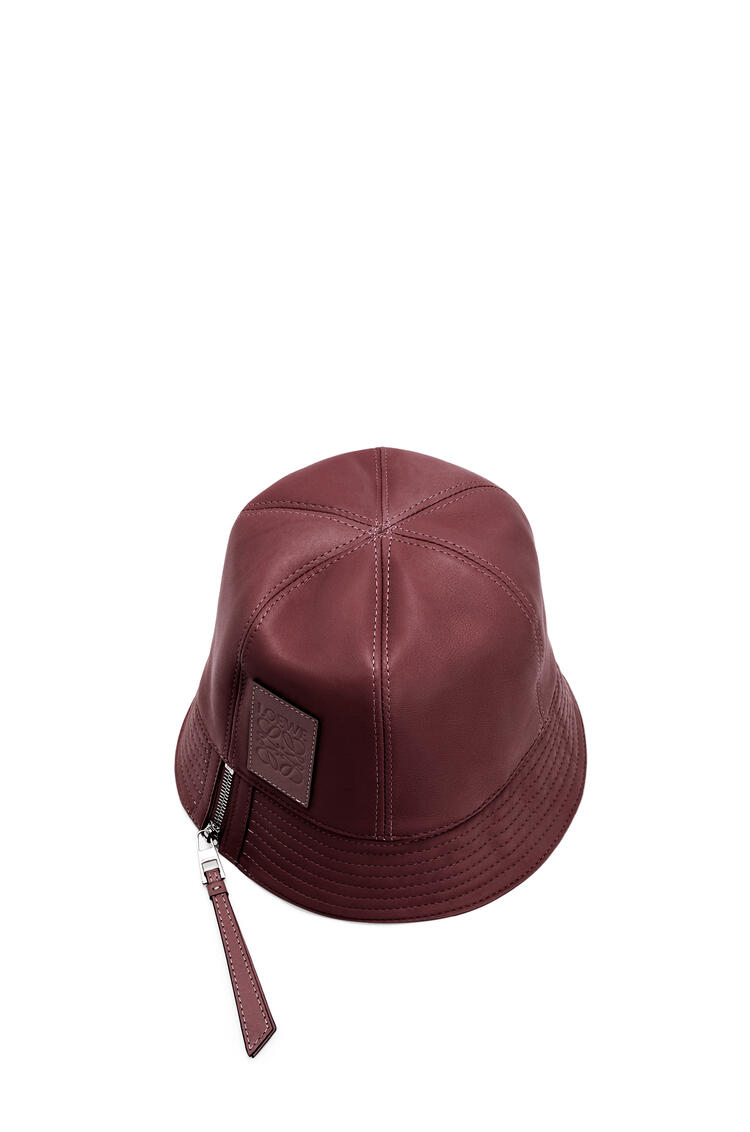 LOEWE Bucket hat in nappa calfskin Malbec pdp_rd