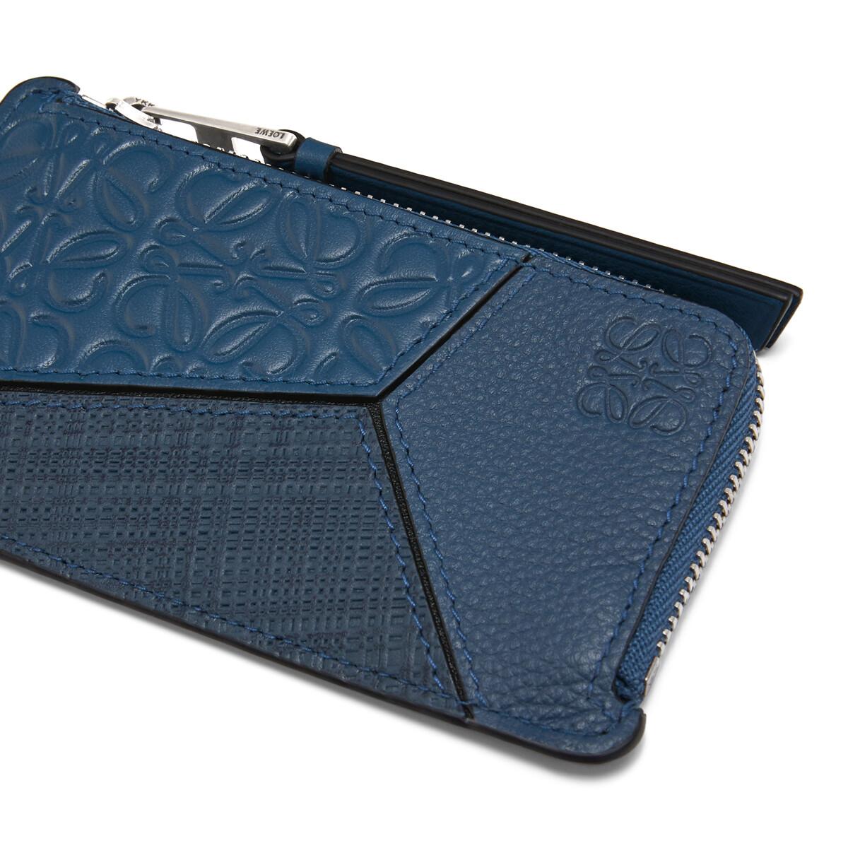 LOEWE Puzzle Coin Cardholder Indigo front