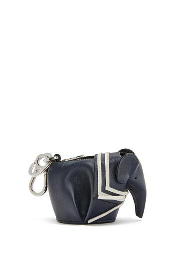 LOEWE Elephant sailor charm in classic calfskin Deep Blue pdp_rd