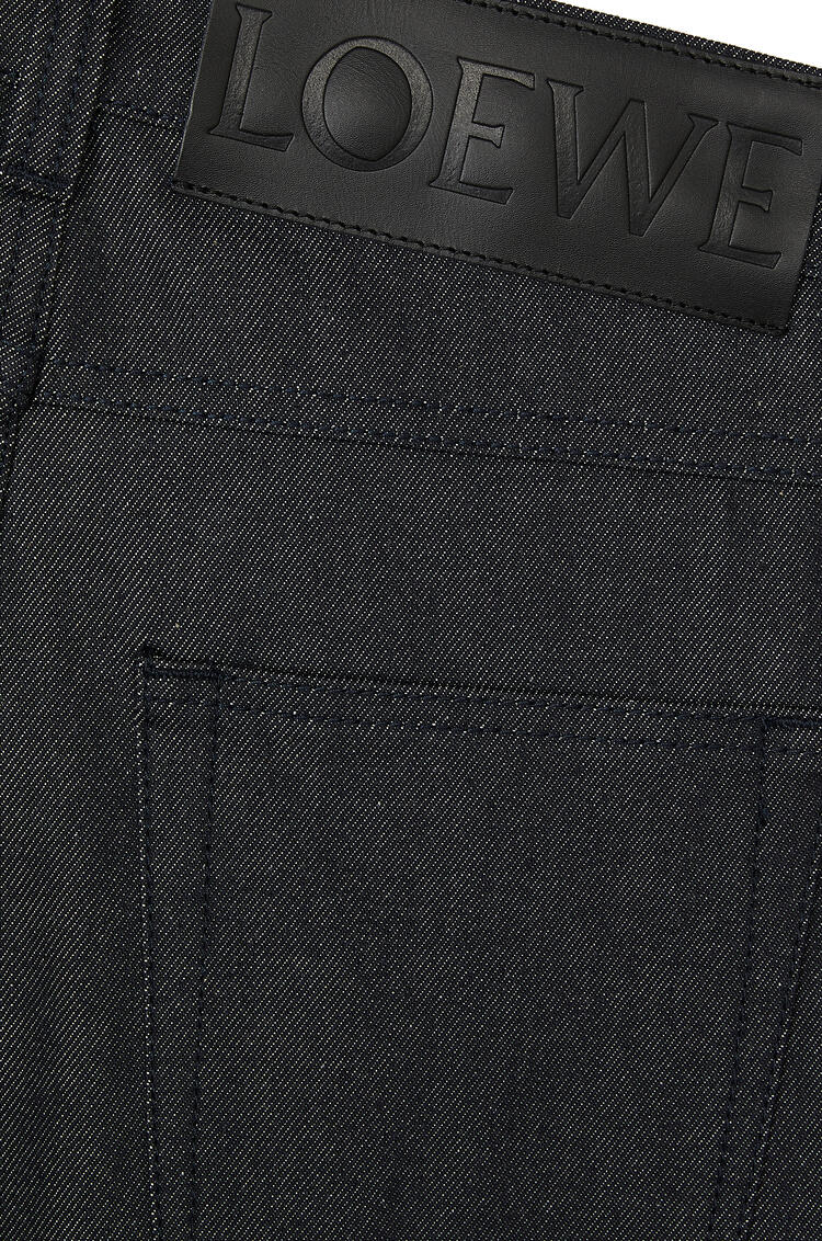 LOEWE Fisherman jeans in cotton Navy Blue pdp_rd