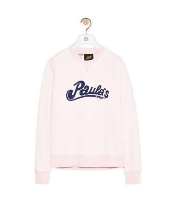 LOEWE Sweatshirt In Cotton Pink front