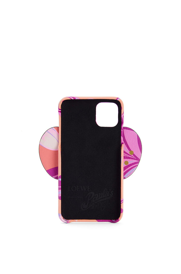 LOEWE Elephant Cover For Iphone 11 Pro Max In Waterlily Classic Calfskin Salmon/Pink pdp_rd