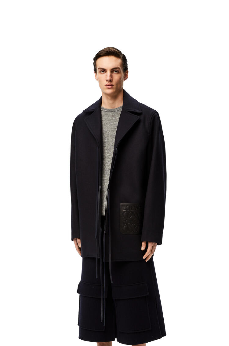 LOEWE Double layer coat in denim Black/Navy Blue pdp_rd