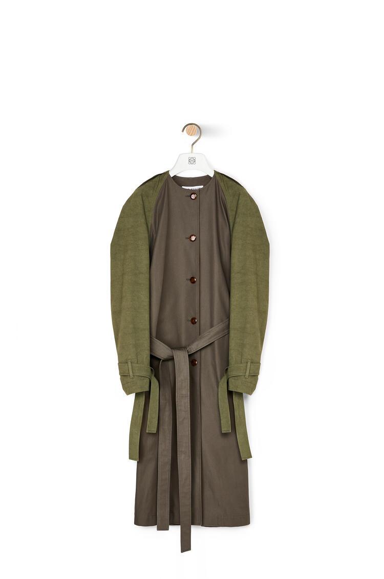 LOEWE ラグラン スリーブ コート(コットン) khaki green/dark khaki green pdp_rd