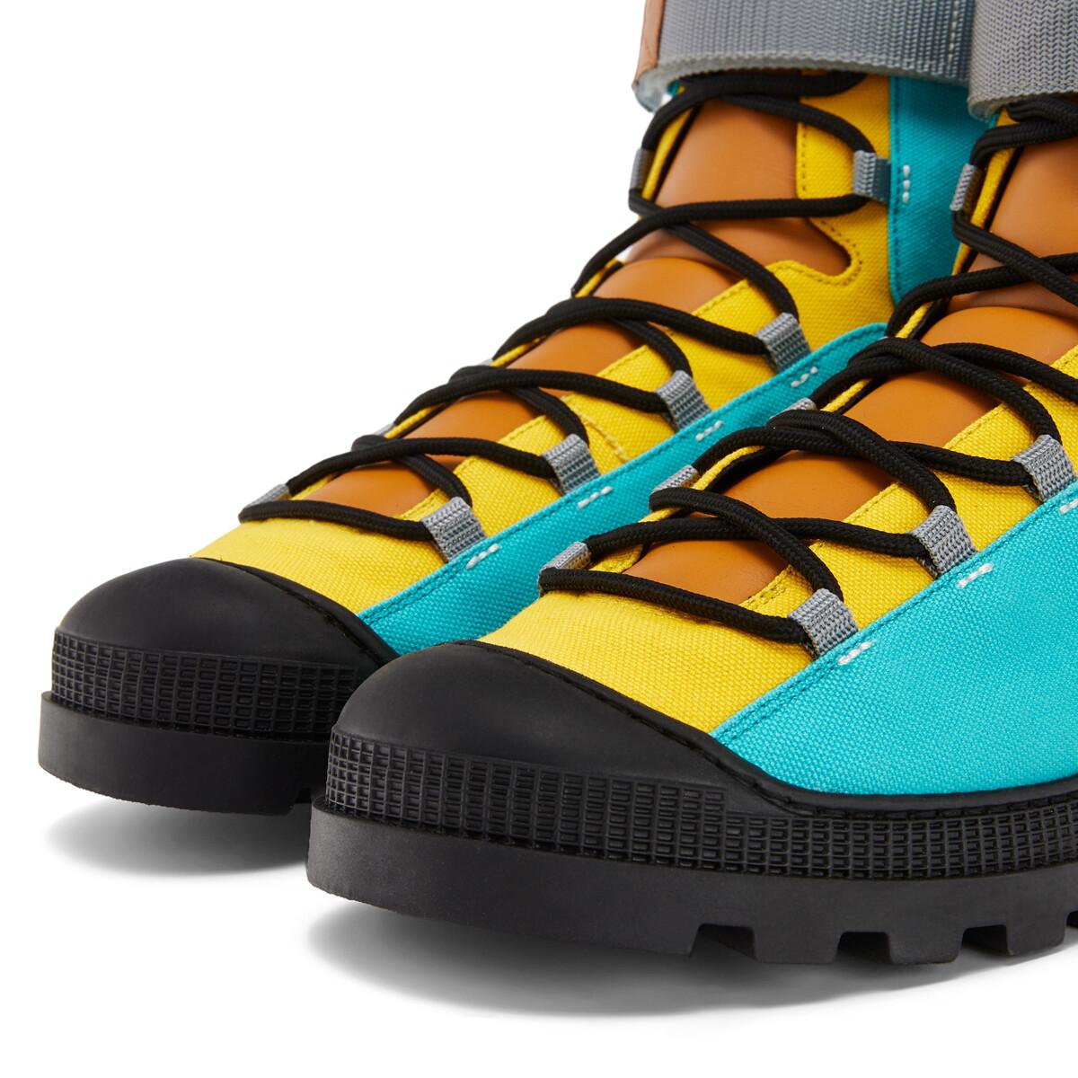 LOEWE Hiking Boot Eln Turquoise/Tan front