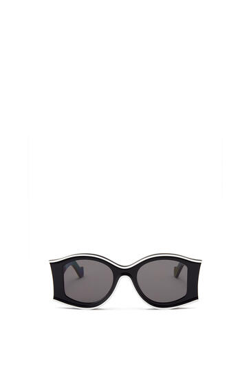 LOEWE Large Paula's Ibiza Sunglasses In Acetate Black/White pdp_rd