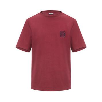 LOEWE Anagram T-Shirt Burgundy front