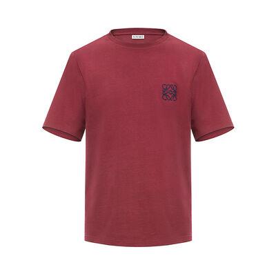 LOEWE アナグラム T-シャツ ブルゴーニュ front