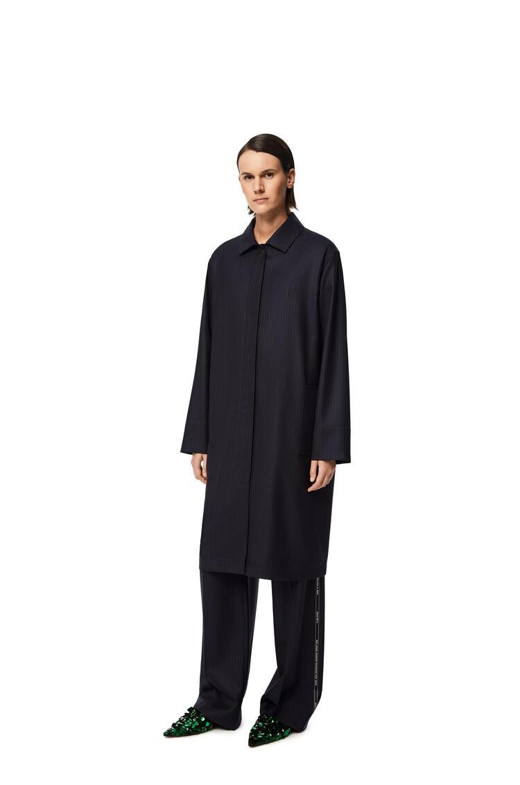 LOEWE Car coat in wool Black/Navy pdp_rd