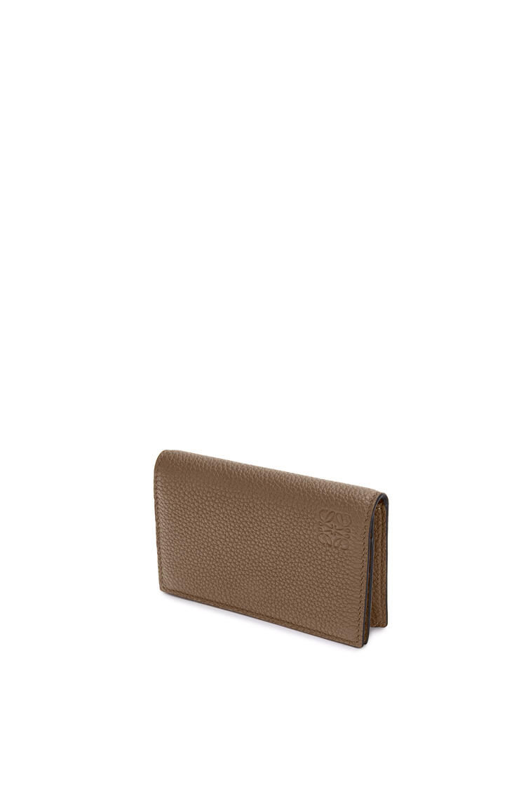 LOEWE Business cardholder in soft grained calfskin Dark Moss pdp_rd