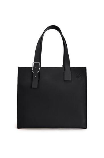 LOEWE Buckle tote bag in soft grained calfskin Black pdp_rd