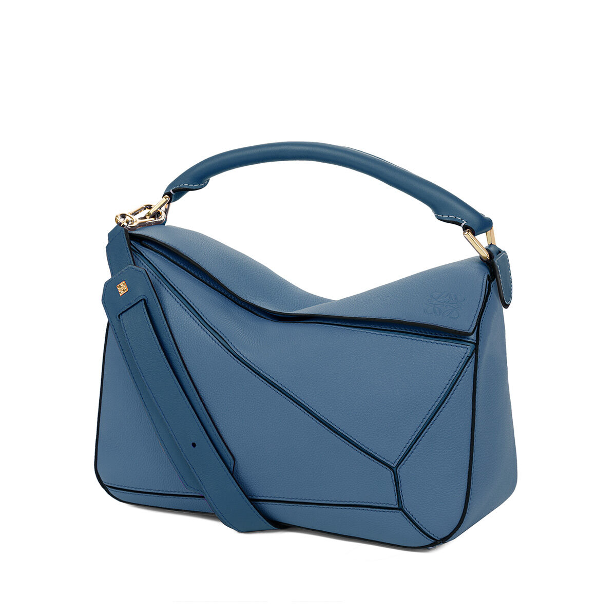 Barcelona Bag in Indigo Soft Grained Calfskin Loewe RJWmKnT