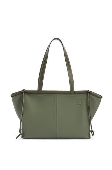LOEWE Small Cushion Tote bag in soft grained calfskin Avocado Green pdp_rd