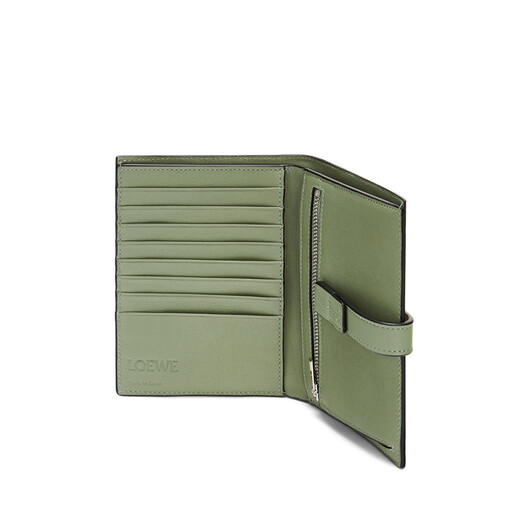 LOEWE Medium Vertical Wallet Sage/Pale Green front