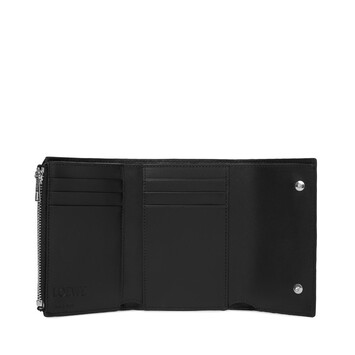LOEWE Repeat Small Vertical Wallet 黑色 front