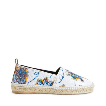 LOEWE Paula Print Espadrille Sequins White/Multicolor front