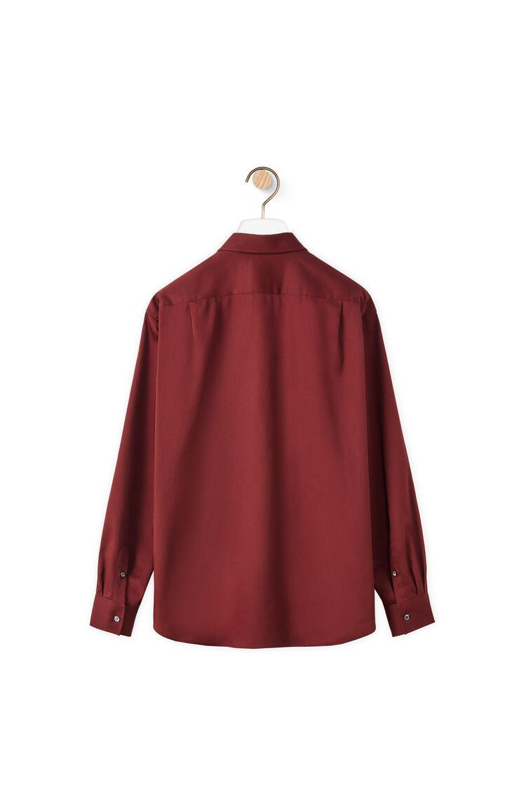 LOEWE Workwear shirt in cotton Burgundy pdp_rd