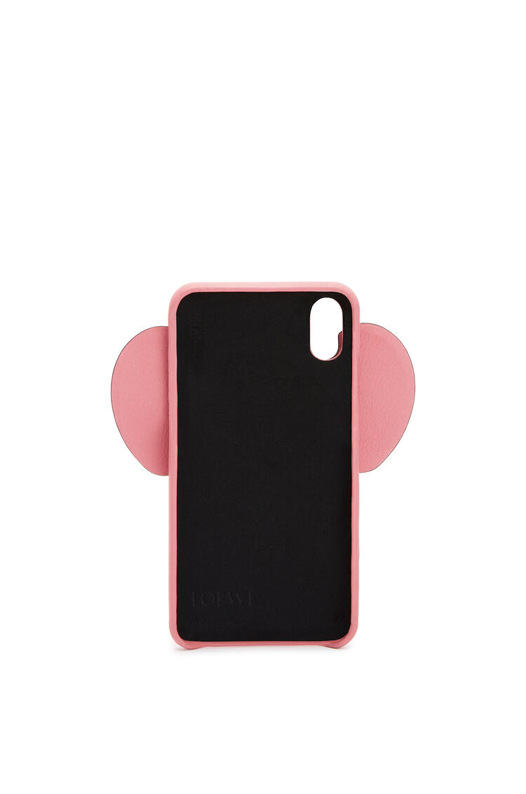 LOEWE Elephant cover for iPhone XS Max in classic calfskin 糖果粉 pdp_rd