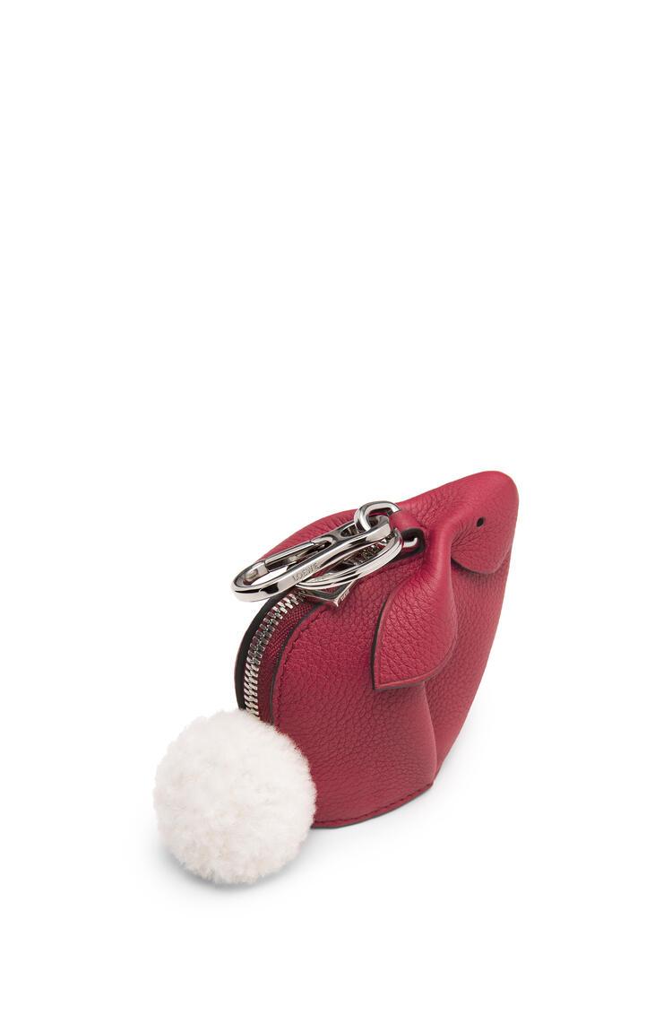 LOEWE Bunny charm in soft grained calfskin Raspberry pdp_rd