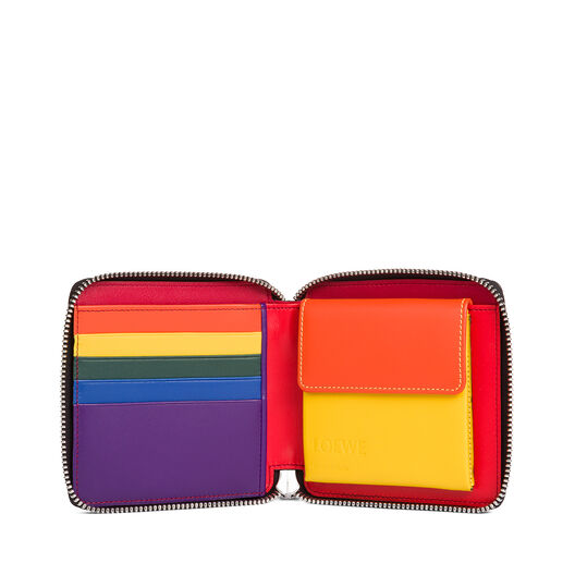 LOEWE Rainbow Square Zip Wallet Multicolor/Black front