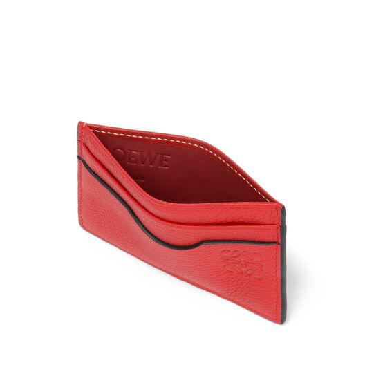 LOEWE Tarjetero Plano Rojo Escarlata/Rojo Teja all