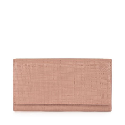 LOEWE Linen Continental Wallet Blush front