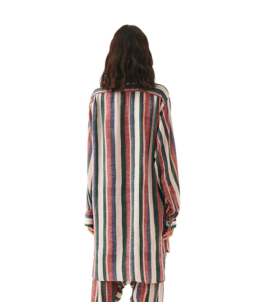 LOEWE Strap Oversized Shirt Straps Pink/Strawberry/Blue front