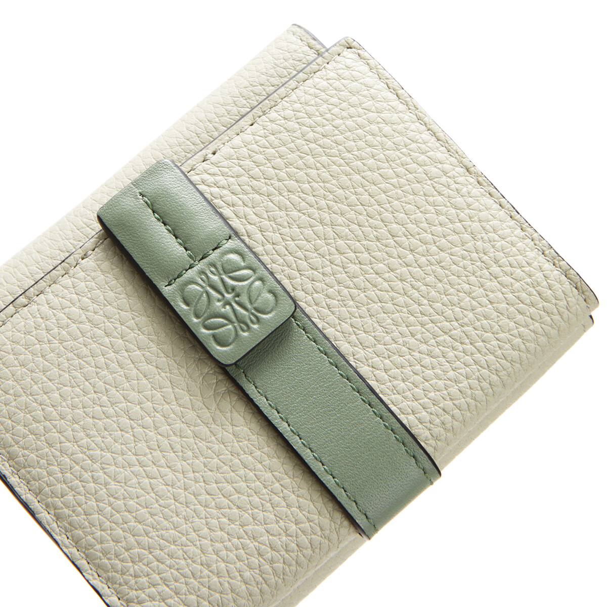 LOEWE Trifold Wallet Sage/Pale Green front