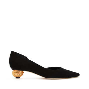 LOEWE Nut Heel Pump 35 Black/Gold front