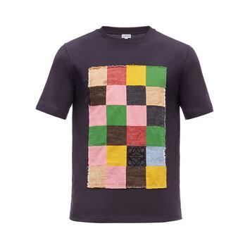 LOEWE T-Shirt Patch Patchwork Blue/Multicolor front