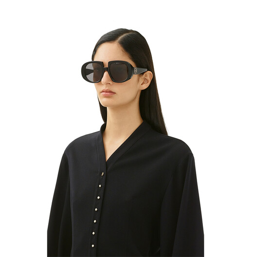 LOEWE Acetate Anagram Sunglasses Black/Gradient Smoke front