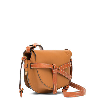 LOEWE Gate Small Bag Light Caramel/Pecan Color  front