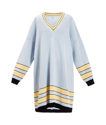 LOEWE Stripe Sweater Dress Azul Bebe front