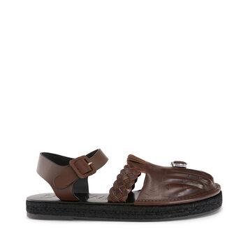 LOEWE Sandal Toes 黑棕色 front